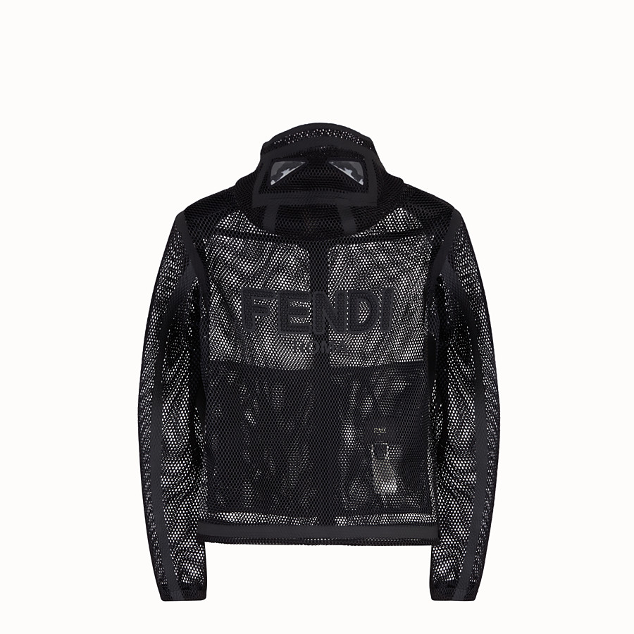 FENDI WINDBREAKER - Windbreaker in black tech fabric - view 2 detail