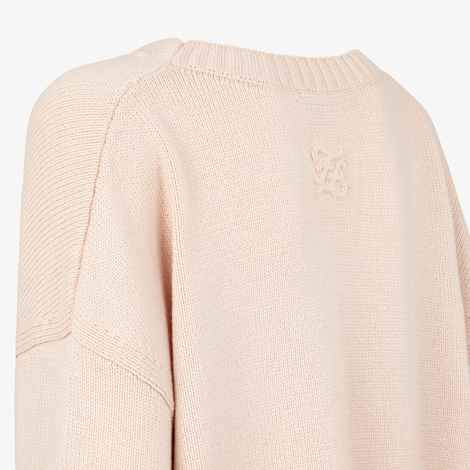 FENDI SWEATER - Pink cashmere sweater - view 3 detail