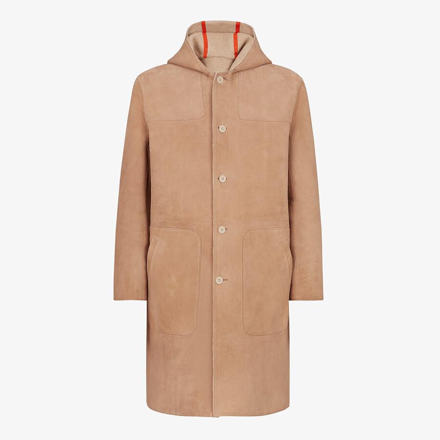FENDI COAT - Beige suede coat - view 1 detail