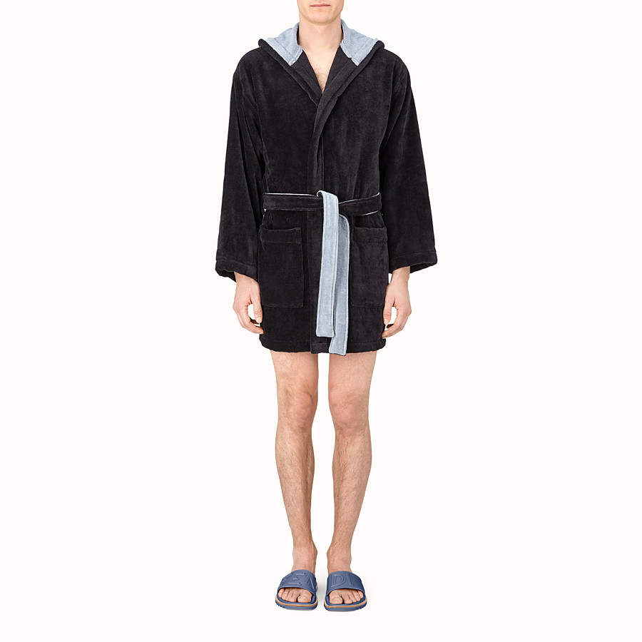 FENDI BATHROBE - Multicolour cotton bathrobe - view 2 detail