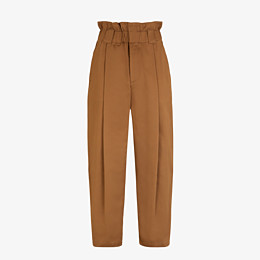 FENDI TROUSERS - Brown gabardine trousers - view 1 thumbnail