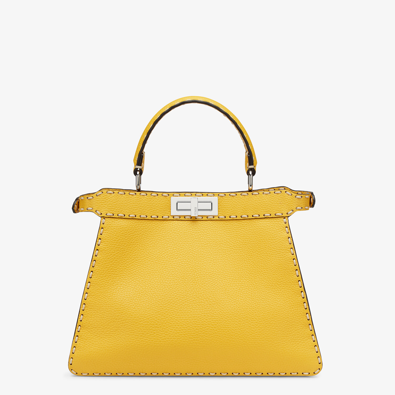 FENDI PEEKABOO ISEEU MEDIUM - Yellow full grain leather bag - view 5 detail