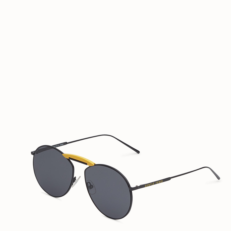 FENDI SUNGLASSES - Black sunglasses - view 2 detail
