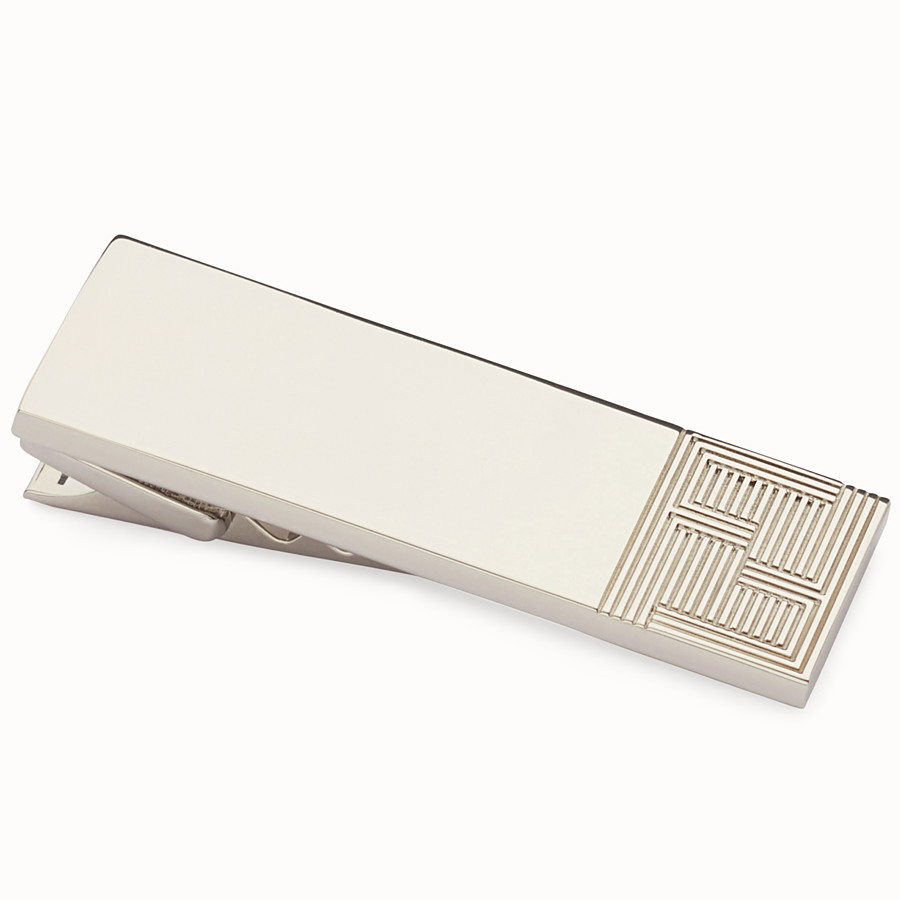 FENDI TIE CLIP - Tie clip in palladium-finish metal - view 2 detail