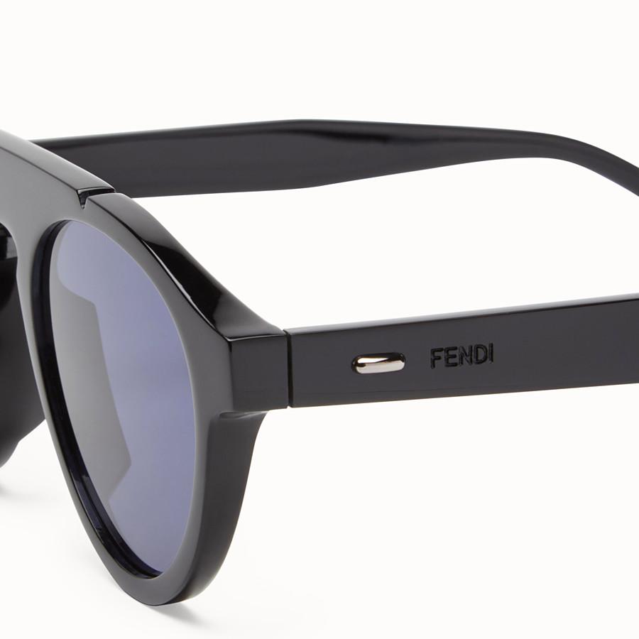 FENDI FENDI ANGLE - 黑色太陽眼鏡 - view 3 detail