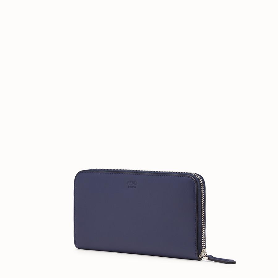 FENDI ZIP-AROUND - Blue leather wallet - view 2 detail
