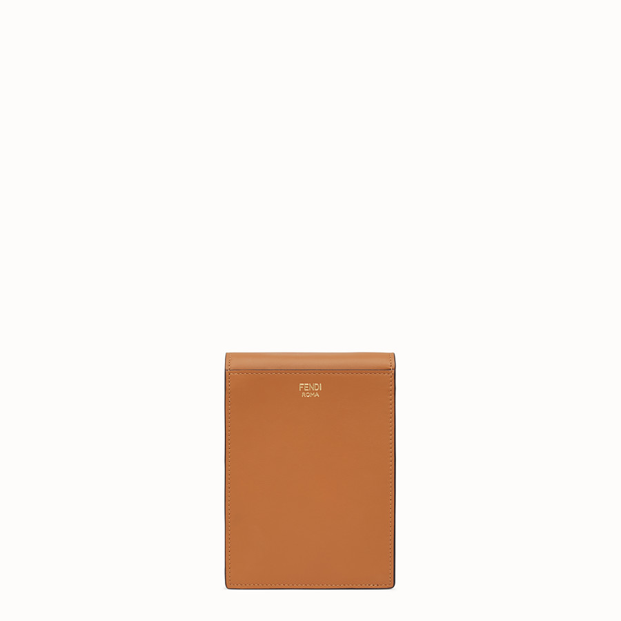 FENDI VERTICAL WALLET ON CHAIN KAN U - Brown leather mini-bag - view 4 detail