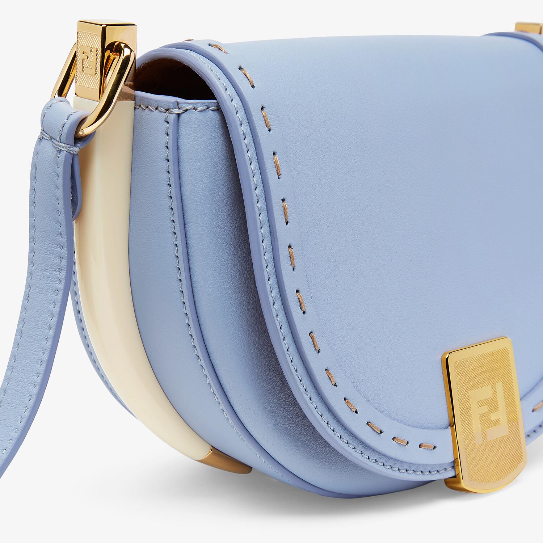 FENDI MOONLIGHT - Light blue leather bag - view 6 detail