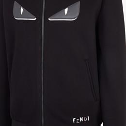 FENDI BOMBER - Black fabric jacket - view 3 thumbnail