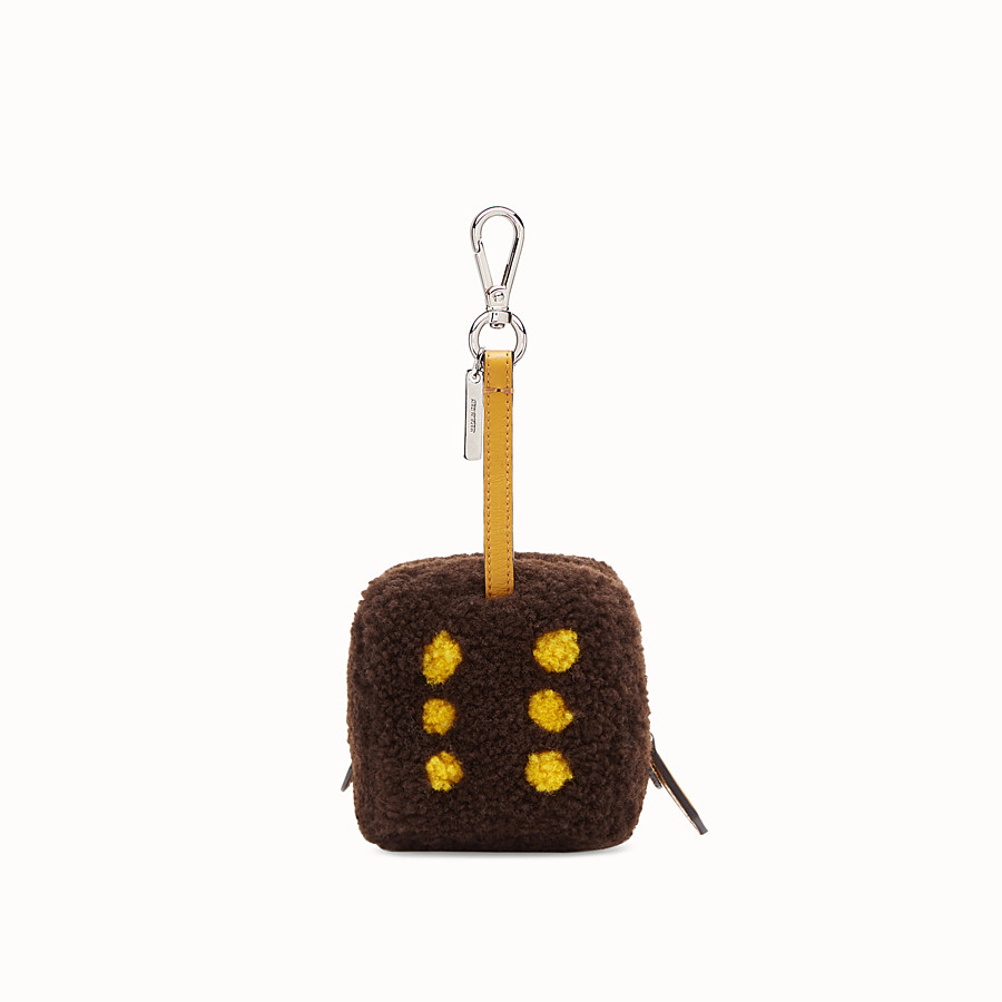 FENDI COIN PURSE - Brown sheepskin charm - view 1 detail