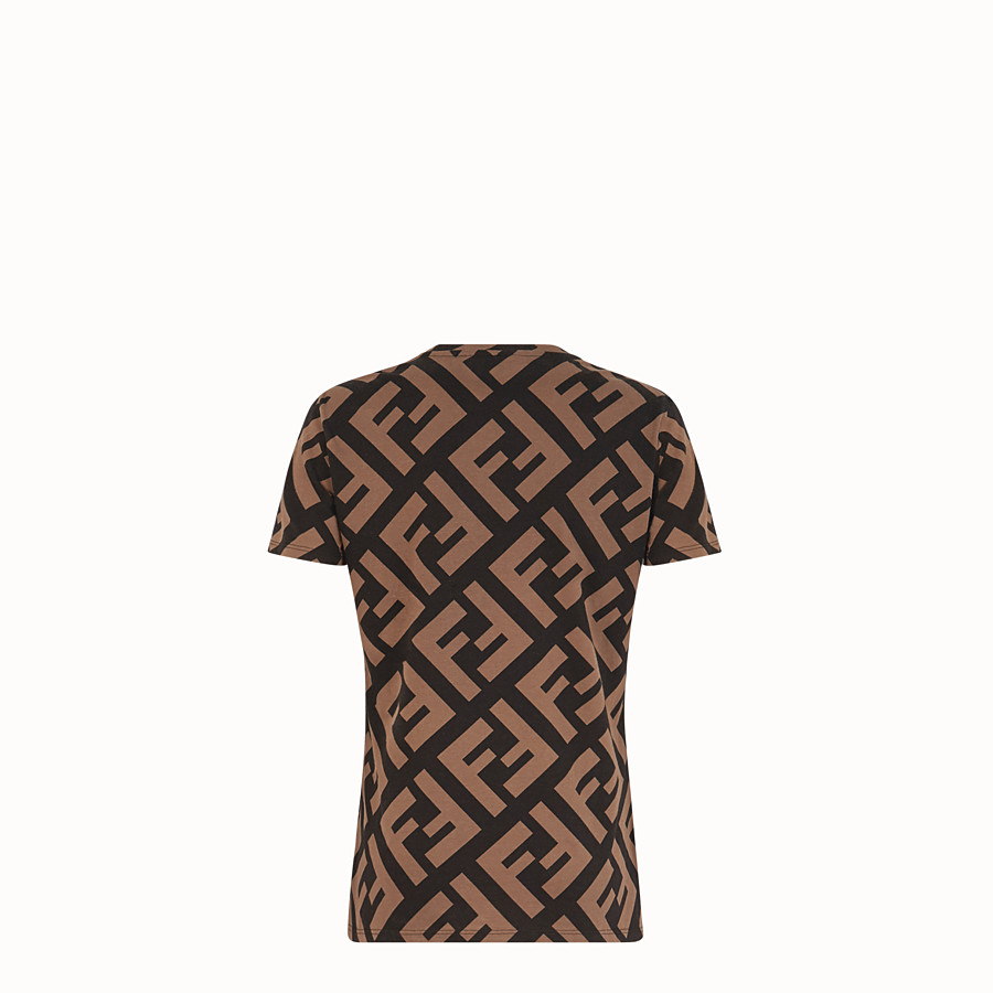 FENDI T-SHIRT - T-shirt en coton multicolore - view 2 detail