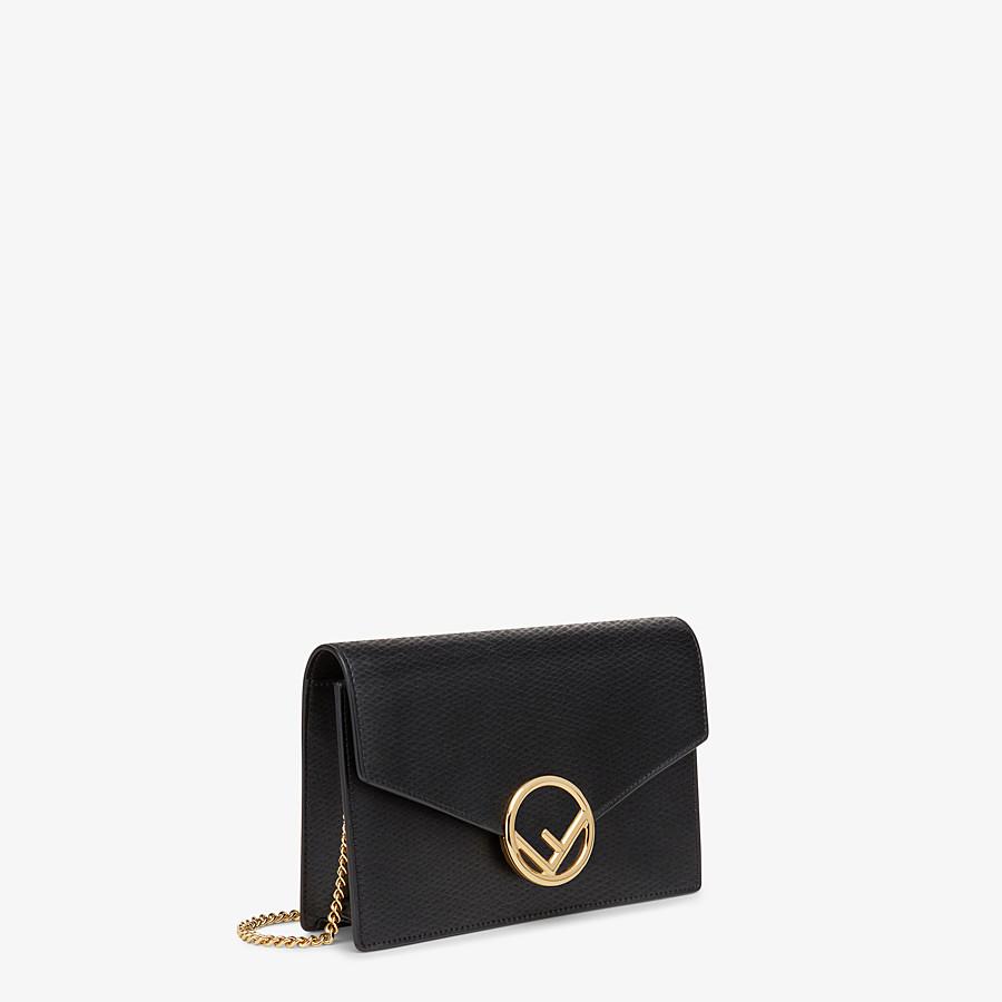 FENDI WALLET ON CHAIN - Mini borsa in pelle nera - vista 2 dettaglio