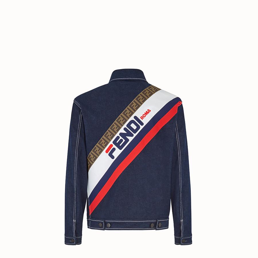 FENDI BLOUSON JACKET - Blue denim jacket - view 4 detail