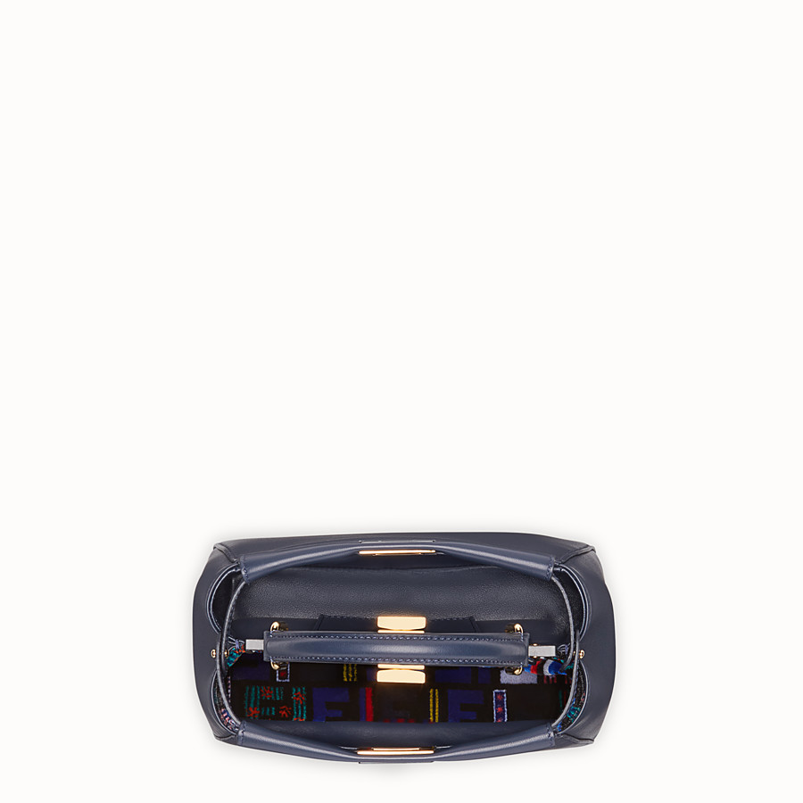 FENDI PEEKABOO MINI - Midnight-blue leather bag - view 4 detail