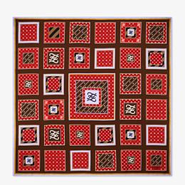 FENDI Karligraphy FOULARD - Foulard aus Seide Mehrfarbig - view 1 thumbnail