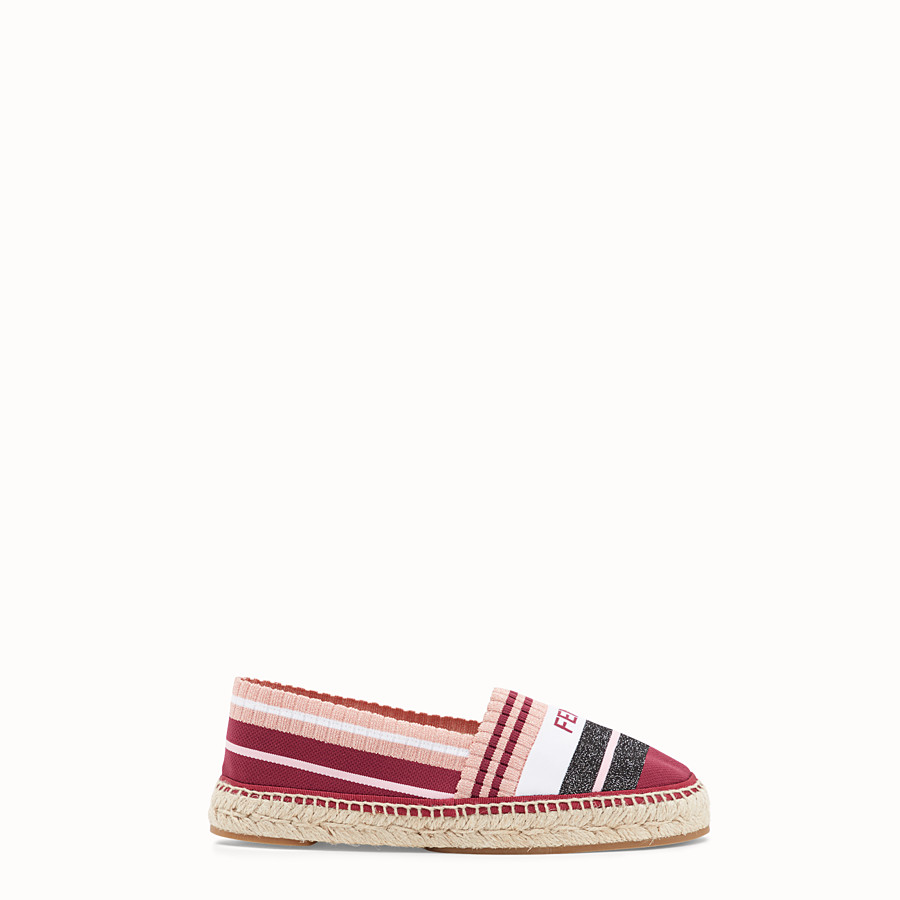 FENDI ESPADRILLES - Multicolour yarn espadrilles - view 1 detail
