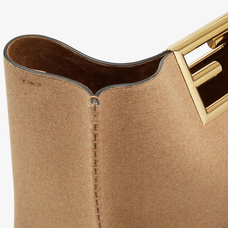 FENDI FENDI WAY LARGE - Beige flannel bag - view 6 detail