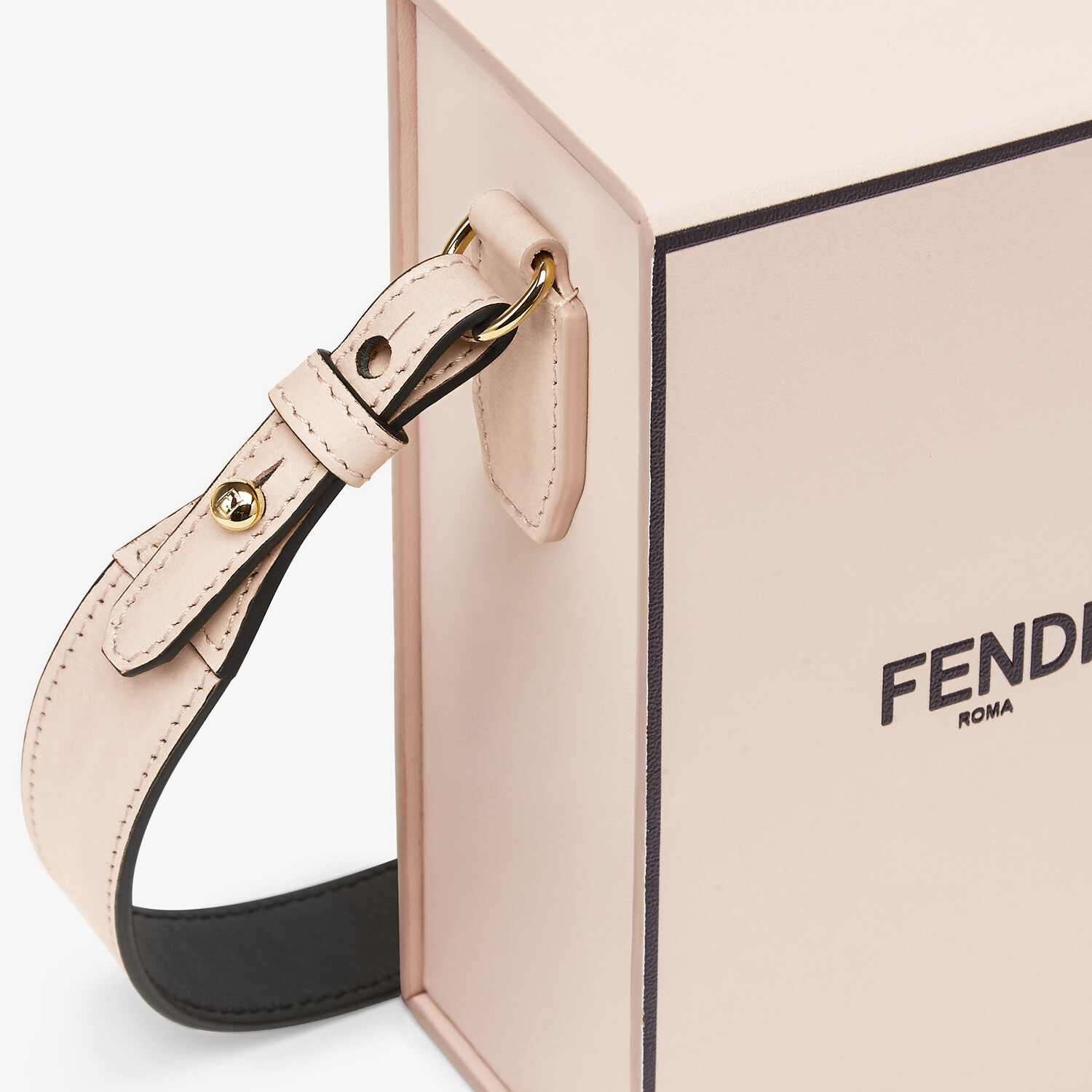FENDI VERTICAL BOX - Tasche aus Leder in Rosa - view 6 detail