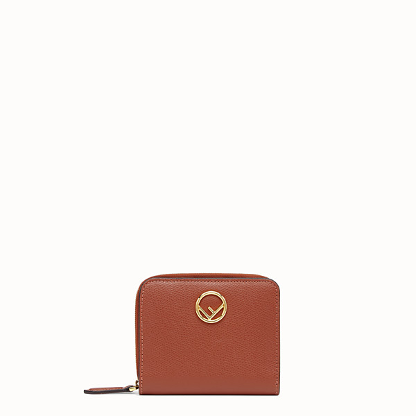 FENDI MEDIUM ZIP-AROUND - Red leather wallet - view 1 small thumbnail