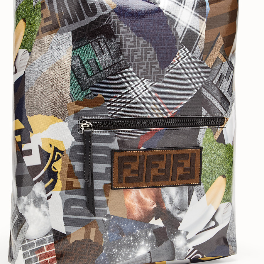 FENDI BACKPACK - Multicolour canvas backpack - view 4 detail