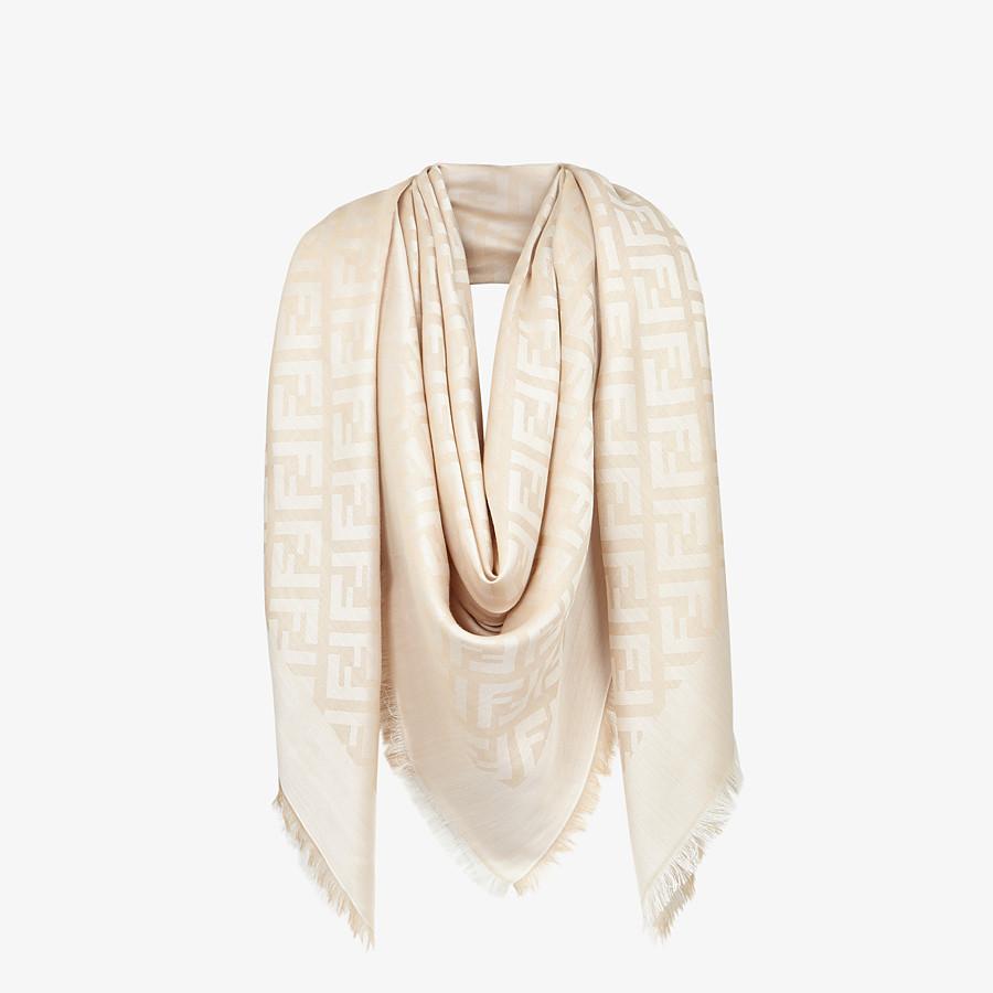 FENDI FF SHAWL - Beige silk shawl - view 2 detail