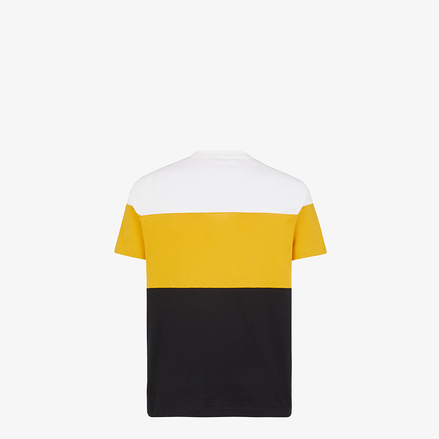 FENDI T-SHIRT - Multicolor cotton T-shirt - view 2 detail