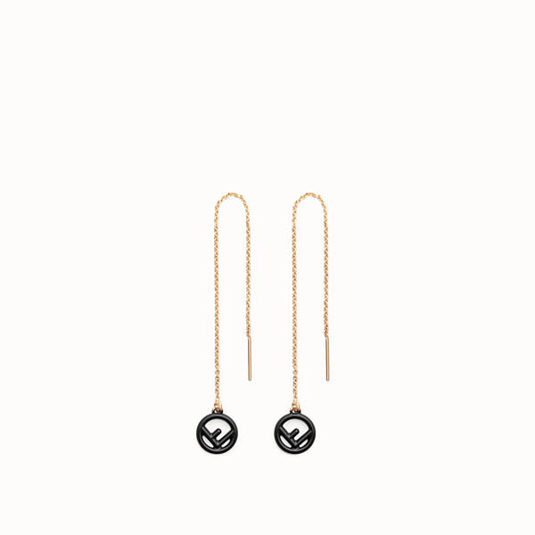 FENDI F IS FENDI EARRINGS - Gold and black coloured earrings - view 1 small thumbnail
