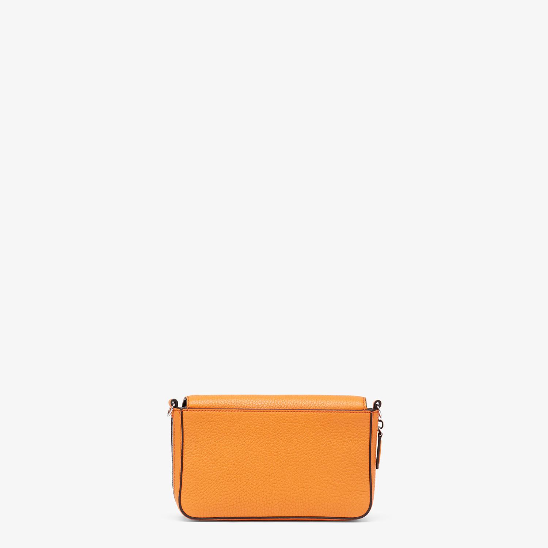 FENDI FLAP BAG - Orange leather bag - view 4 detail