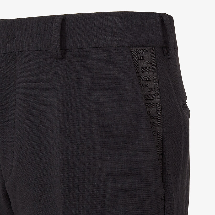 FENDI PANTS - Black wool pants - view 3 detail