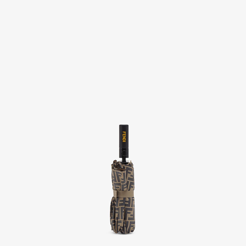 FENDI OMBRELLO - Ombrello in tessuto tecnico marrone - vista 2 dettaglio