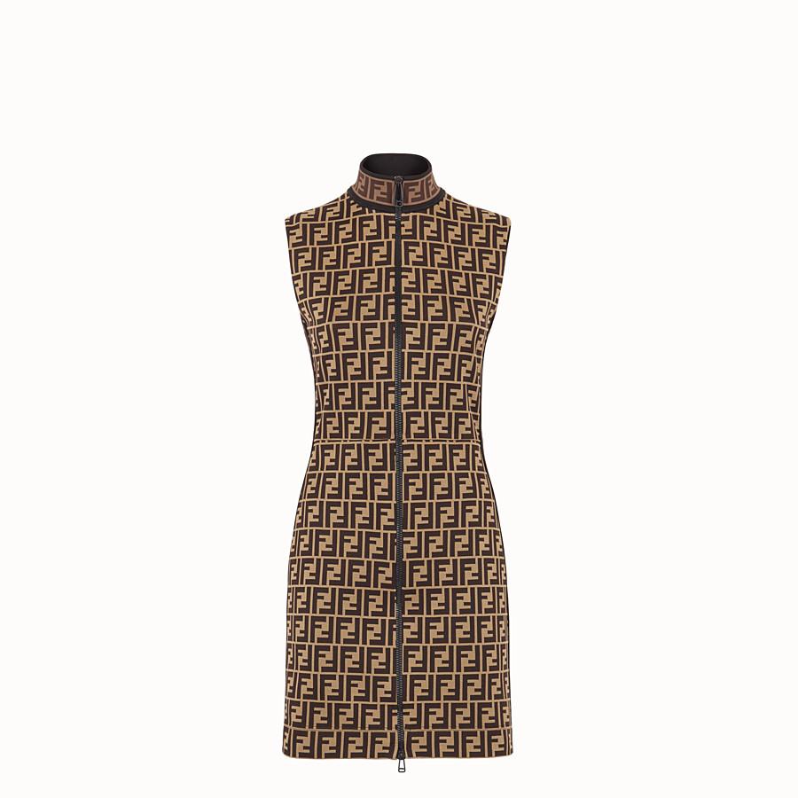 FENDI SHORT DRESS - Multicolour cotton jersey mini dress - view 1 detail