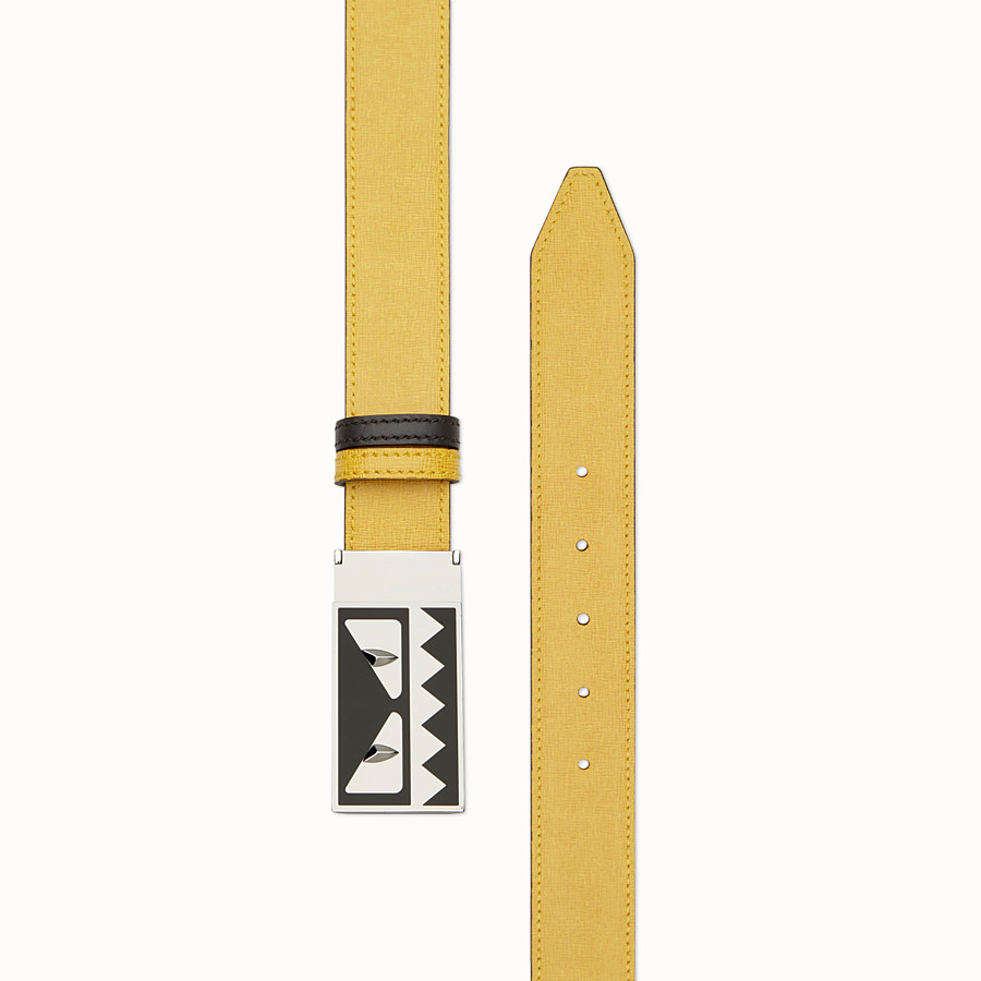 FENDI BELT - Reversible yellow and black belt - view 2 detail