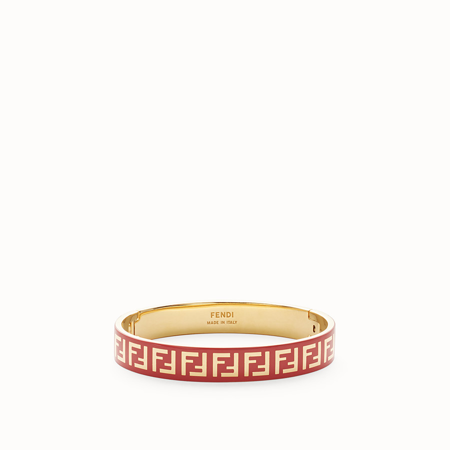 FENDI FF BRACELET - Gold and red coloured bracelet - view 1 detail