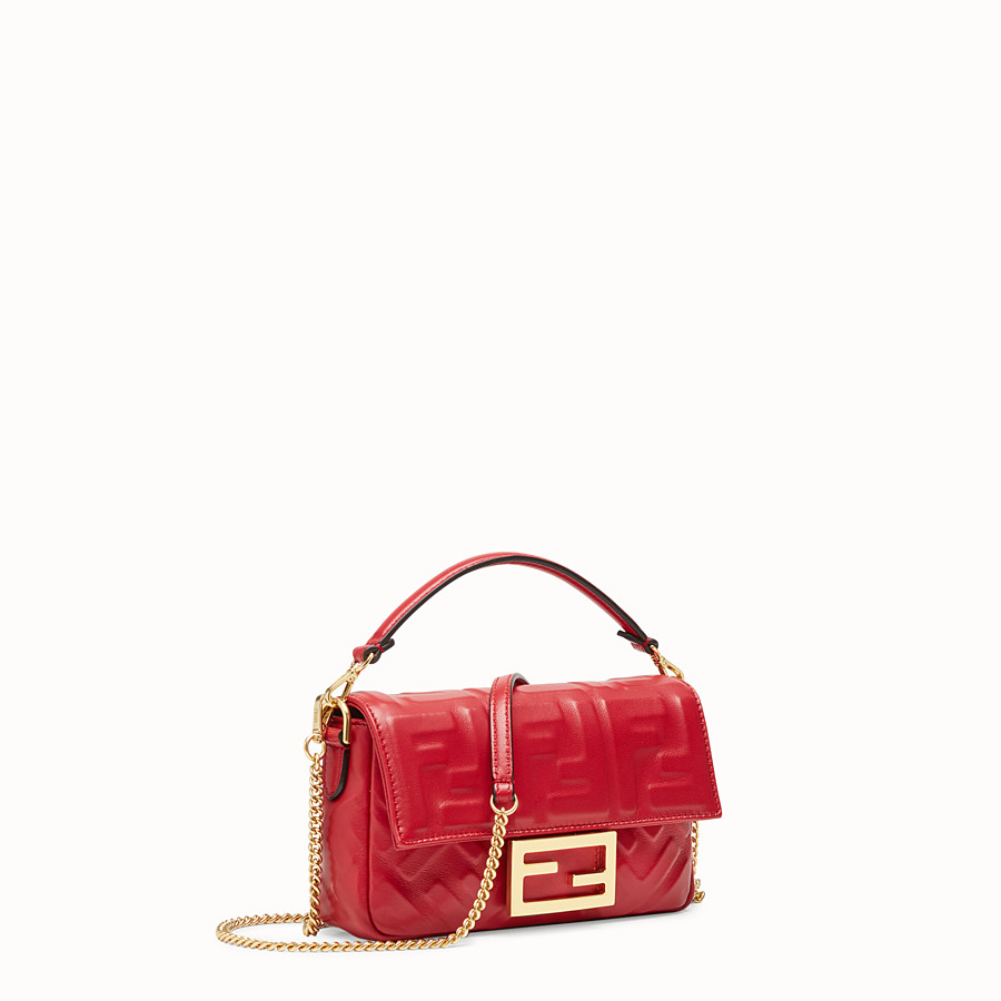 91bb0e425100 Red leather bag - MINI BAGUETTE