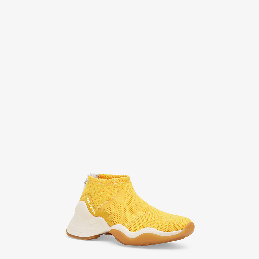 FENDI SNEAKERS - High-tech yellow jacquard sneakers - view 2 detail