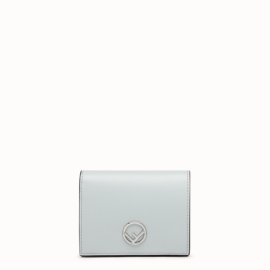 FENDI BIFOLD - Grey leather compact wallet - view 1 detail