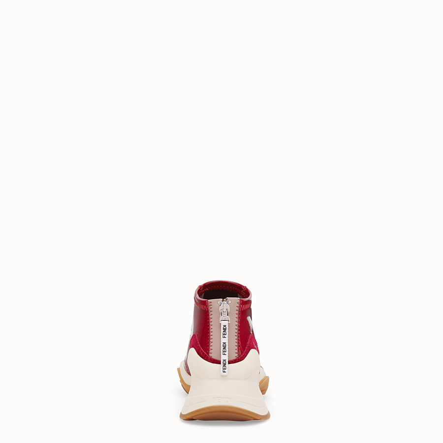 FENDI SNEAKERS - Sneakers aus Glossy-Neopren in Rot - view 3 detail