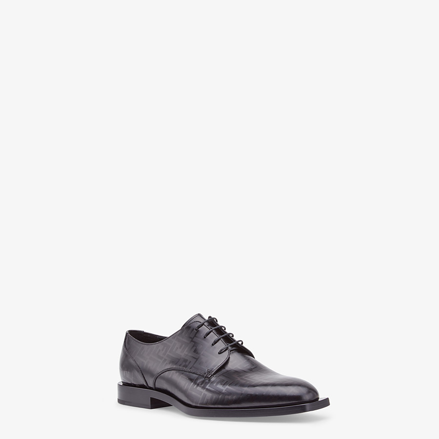FENDI LACE-UPS - Black leather lace-ups - view 2 detail