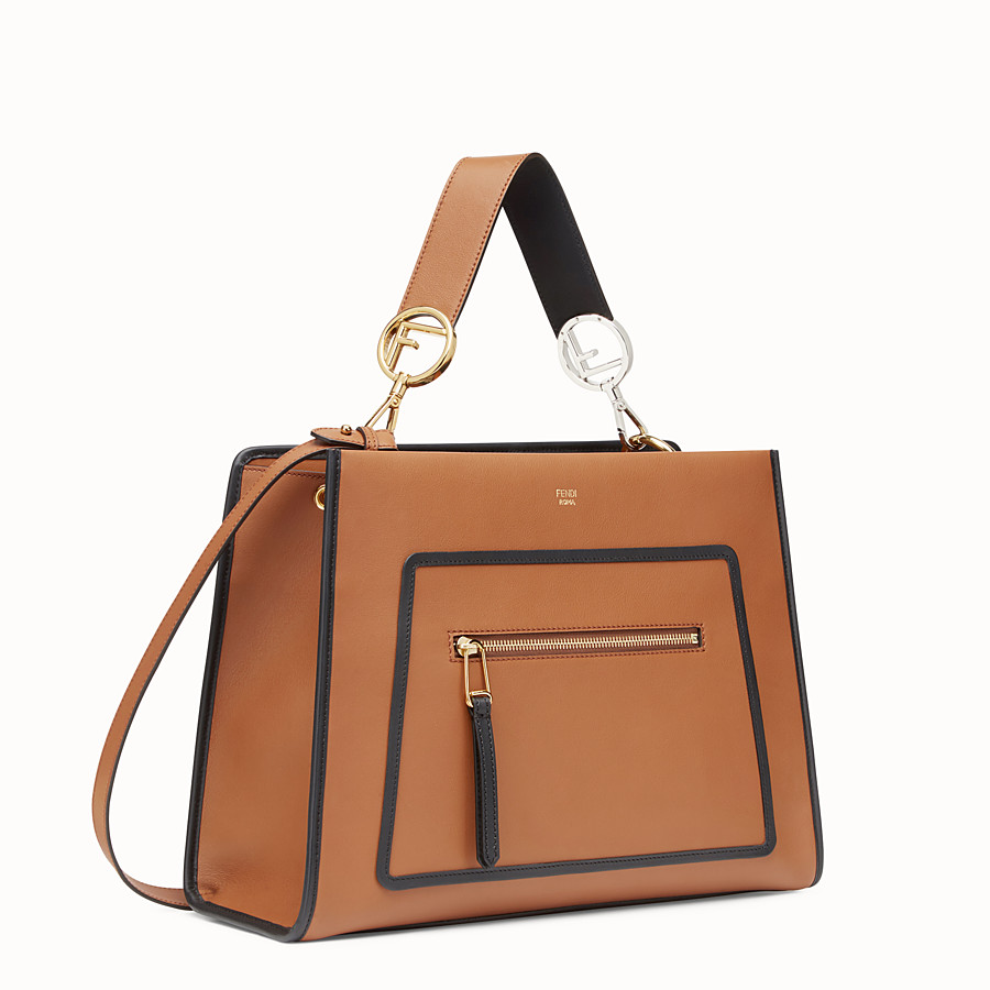 FENDI RUNAWAY REGULAR - Brown leather bag - view 2 detail