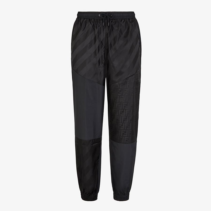 FENDI TROUSERS - Black tech fabric trousers - view 1 detail