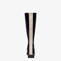 FENDI BOOTS - Glossy black neoprene boots - view 3 thumbnail