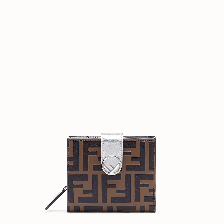 FENDI BIFOLD - Compact, silver leather wallet - view 1 detail