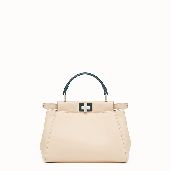 FENDI PEEKABOO MINI - Beige leather bag - view 1 small thumbnail