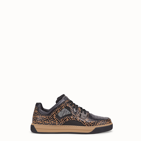 FENDI SNEAKER - Low top in pelle multicolor - vista 1 thumbnail piccola