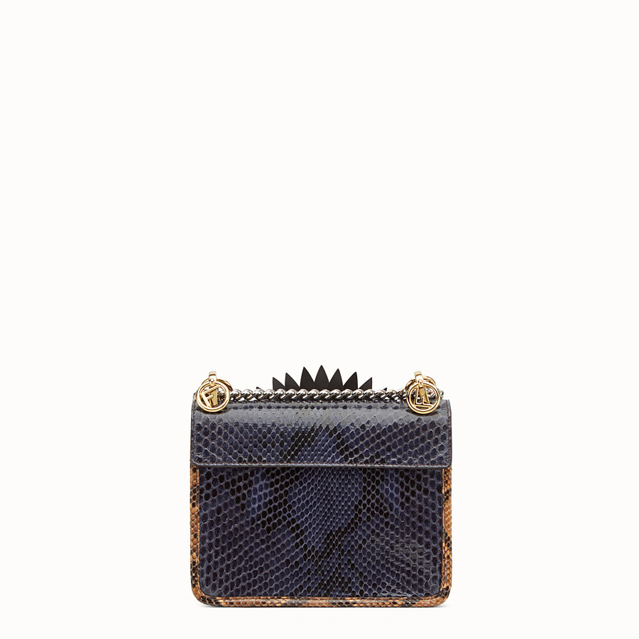 FENDI KAN I LOGO SMALL - Blue python mini-bag - view 3 detail
