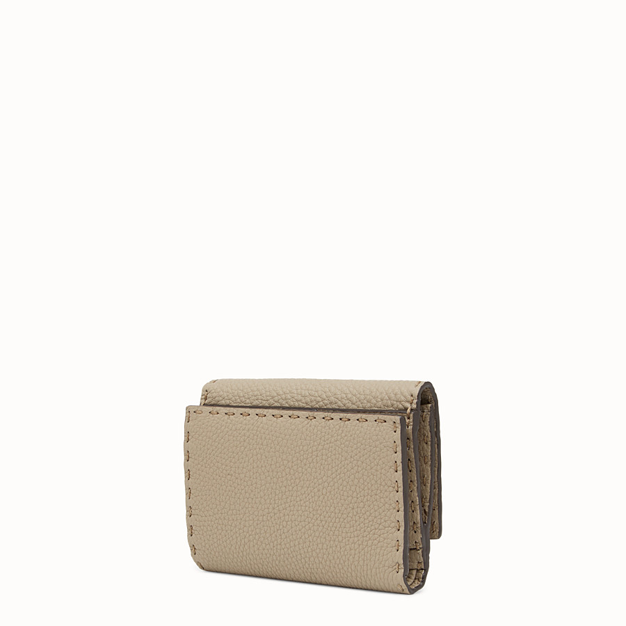 FENDI CONTINENTAL MEDIUM - Beige leather wallet - view 2 detail