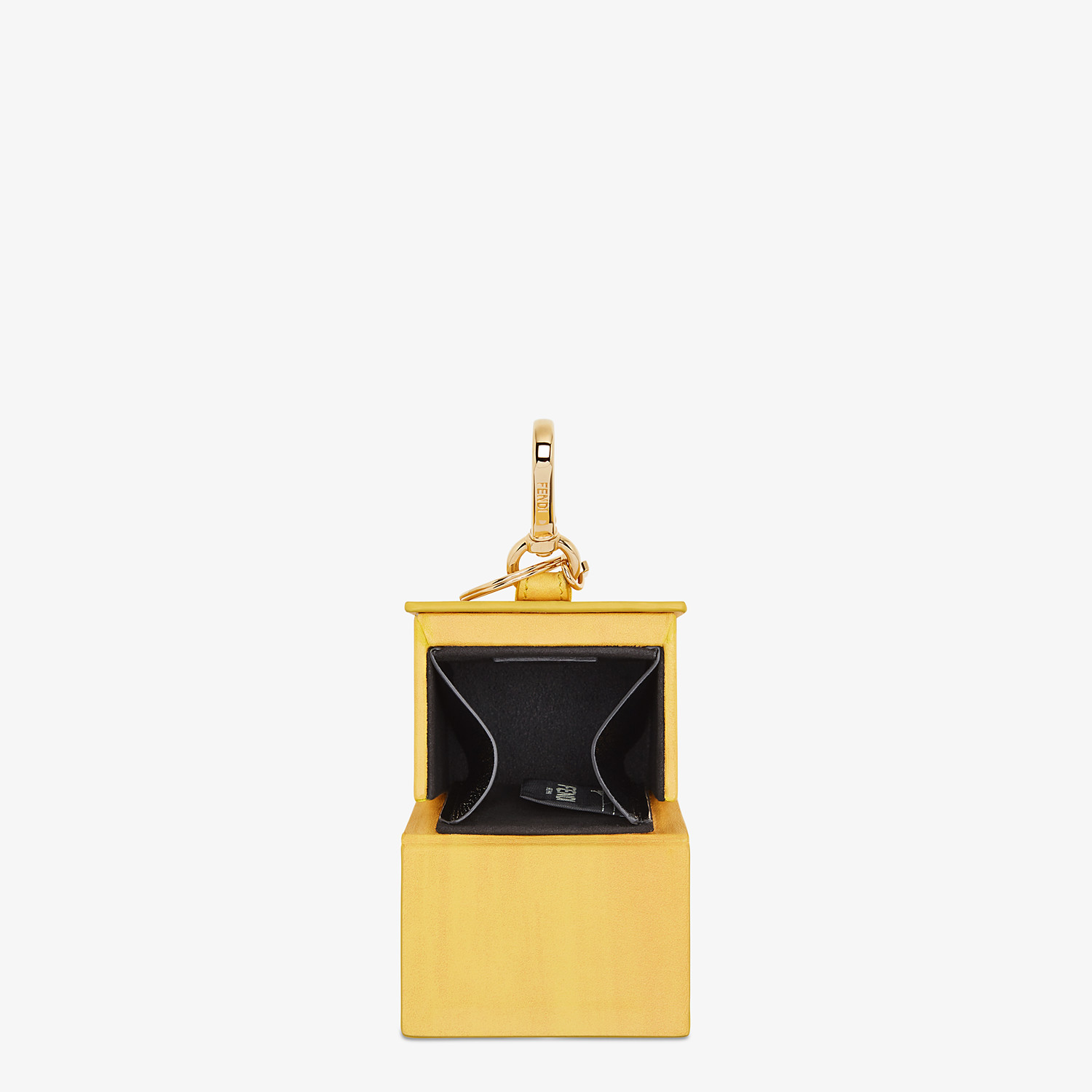 FENDI BOX KEY CHARM - Yellow leather key ring - view 3 detail