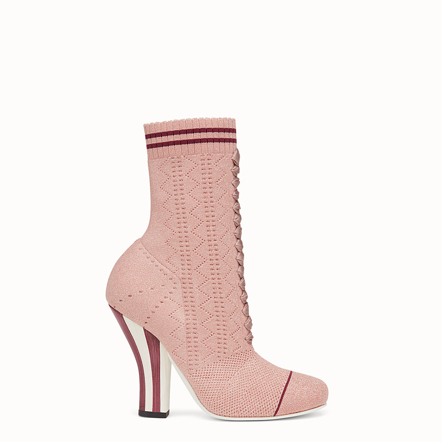 FENDI BOOTS - Pink fabric boots - view 1 detail