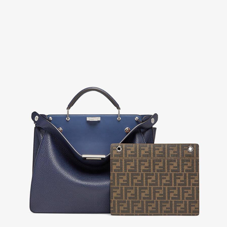 FENDI PEEKABOO ISEEU MEDIUM - Dark blue leather bag - view 2 detail