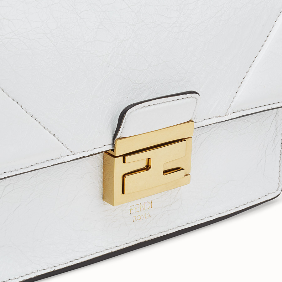 FENDI KAN U SMALL - White leather mini-bag - view 6 detail